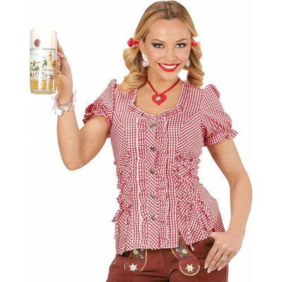 Tiroler Blouse Dames Rood