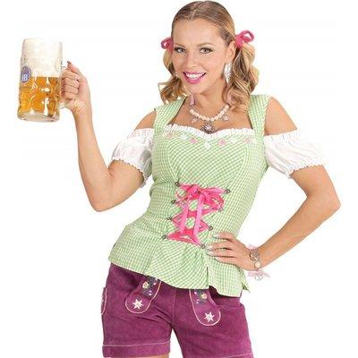 Tiroler Blouse Dames Groen