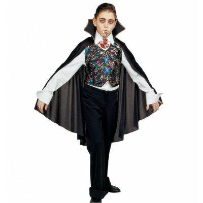 Verkleedset Vampiervest Met Cape Kind