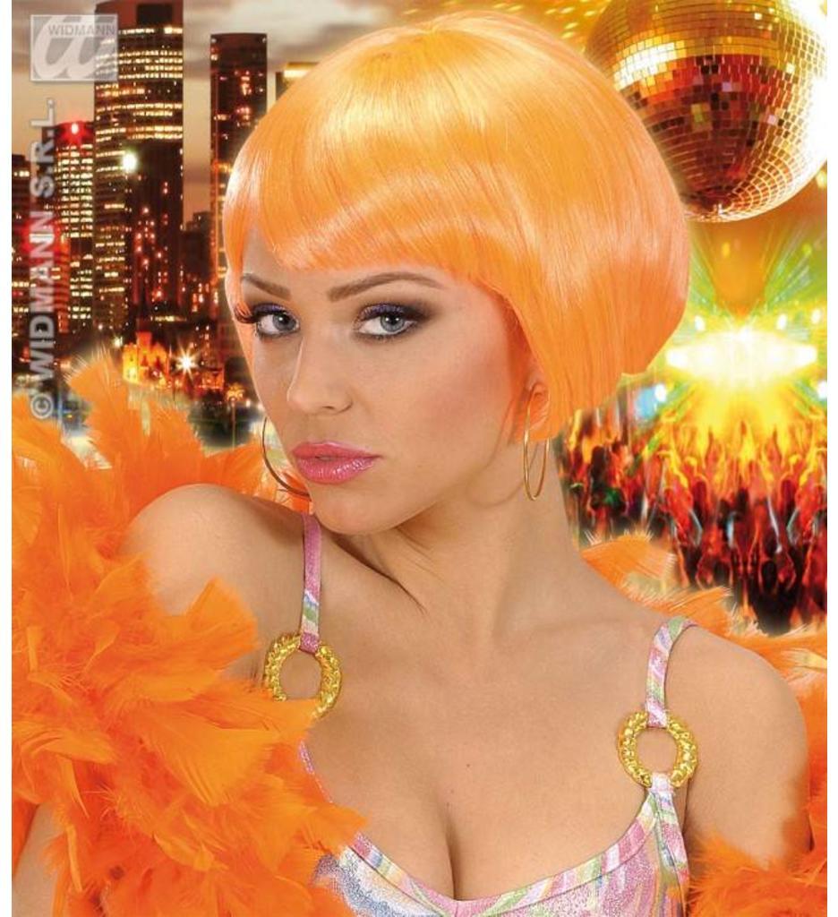 Pruik Valentina Neon Oranje