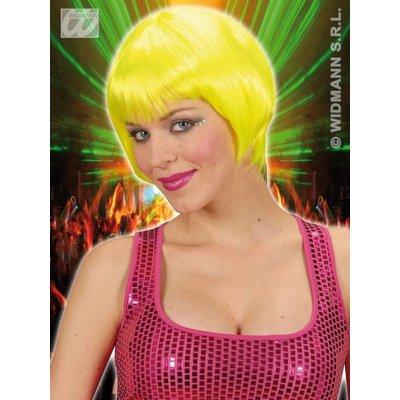 Pruik Rave Neon Geel