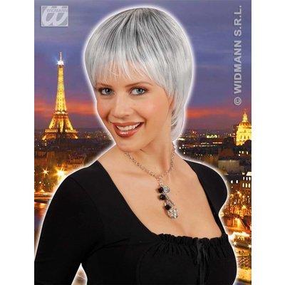 Pruik Paris Zwart/Wit