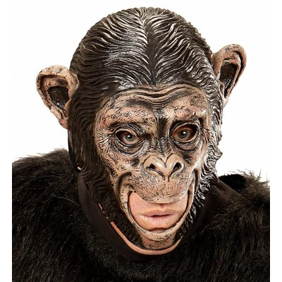 Kindermasker Chimpansee Met Open Mond