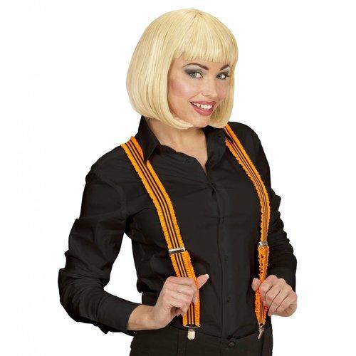 Widmann Bretels Oranje Met Plooien