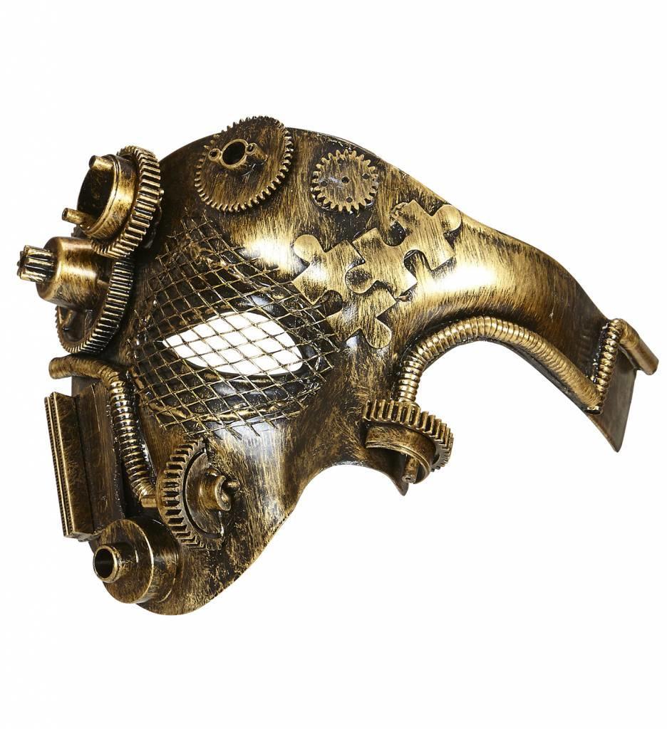 Halfgezichtmasker Steampunk Koper