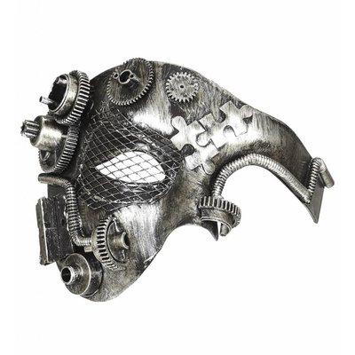 Halfgezichtmasker Steampunk Zilver