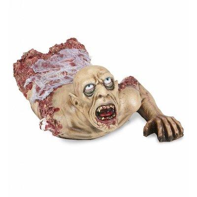Torse Kruipende Zombie Met Gaas 72Cm