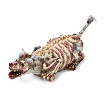 Zombie Hond Met Vacht Verminkt 94Cm
