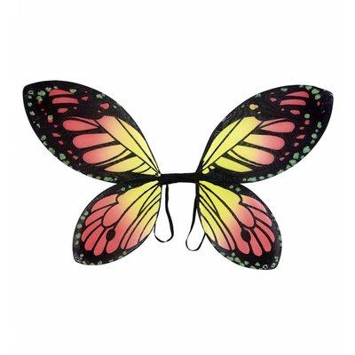 Vlindervleugels Kind Zwart/Oranje/Geel