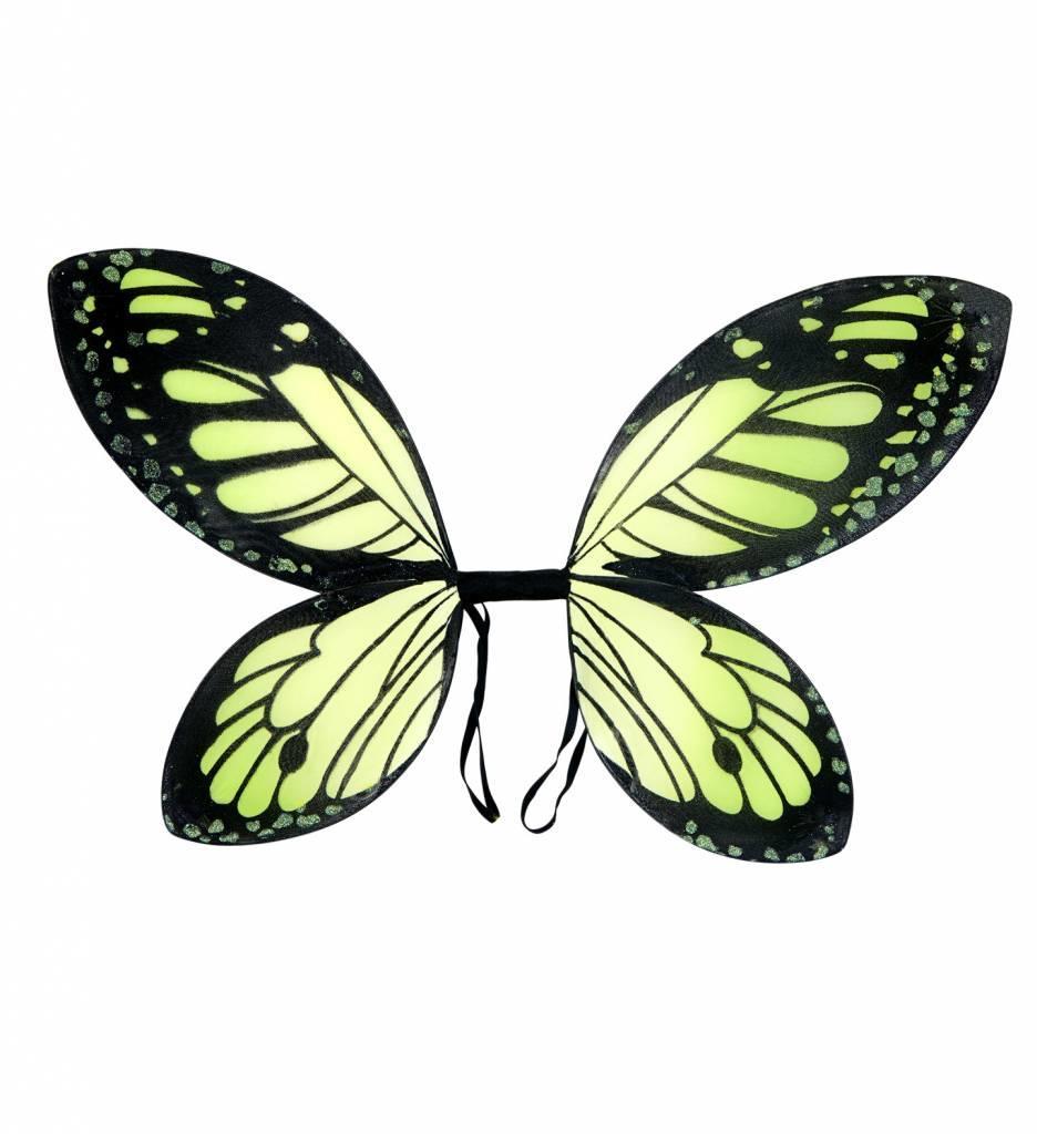 Vlindervleugels Kind Zwart/Groen