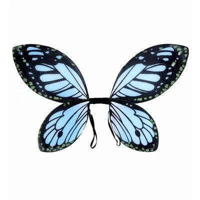 Vlindervleugels Kind Zwart/Blauw