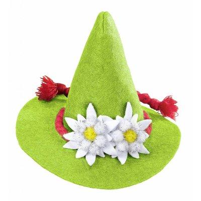 Mini Bayern Hoed Met Edelweiss Groen