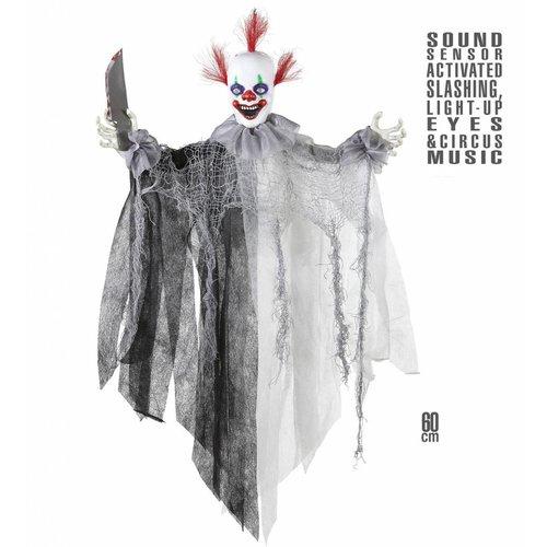 Animatie Killer Clown Met Lichtgevende Ogen En Geluid