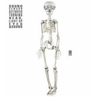 Animatie Skelet Met Draaiend Hoofd, Lichtende Ogen En Geluid 90Cm