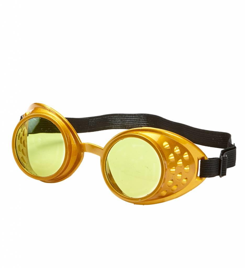 Stofbril Steampunk Goud