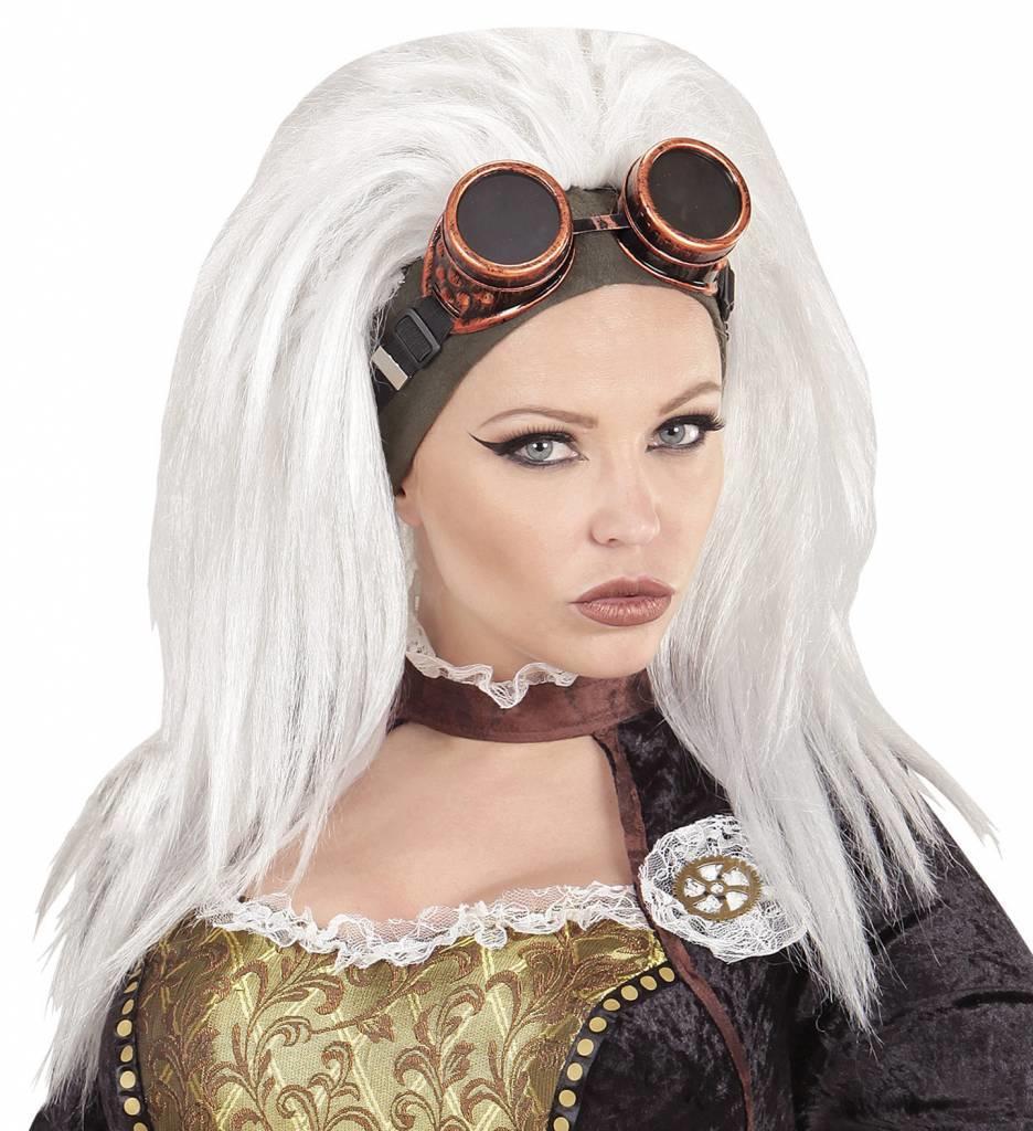 Pruik Steampunk Met Stofbril