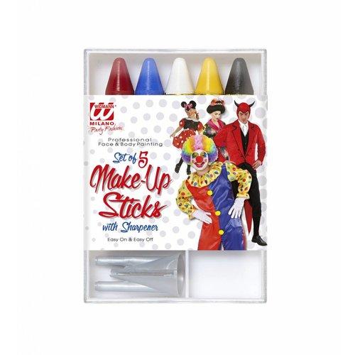 Widmann 5 Make-Up Sticks Metslijper