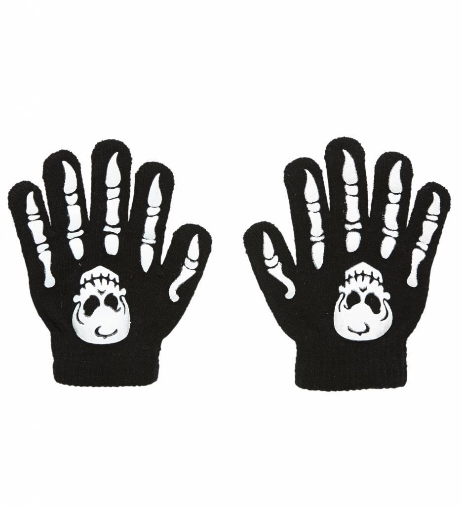Handschoenen Botten Met Schedel Kind