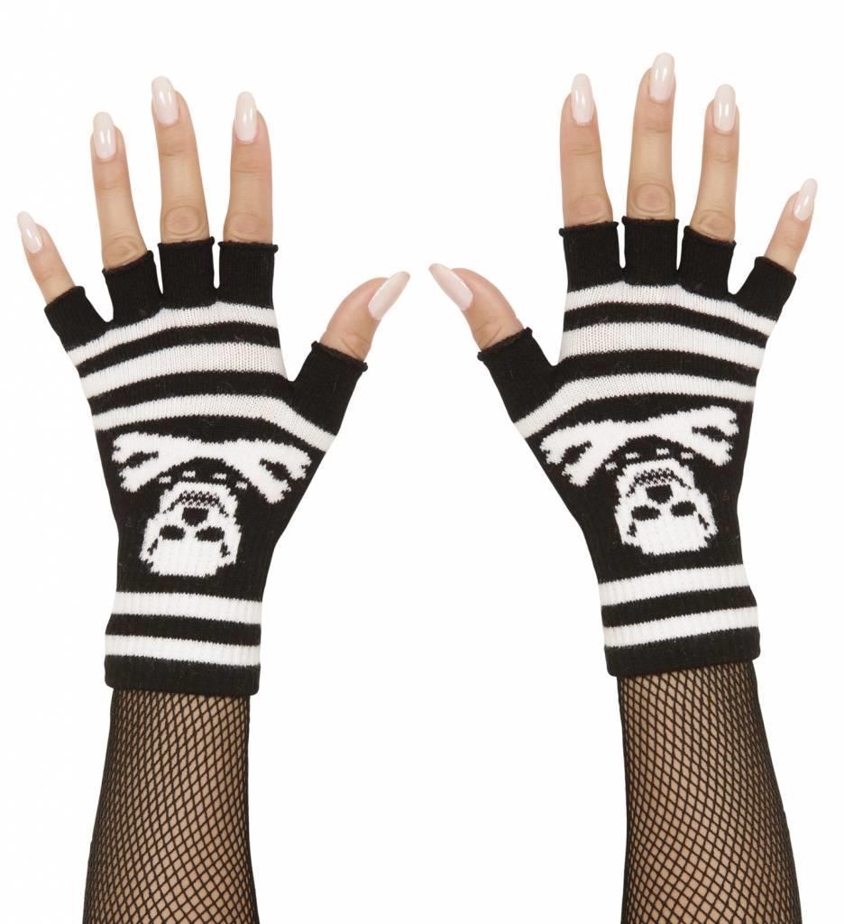 Vingerloze Handschoenen Piraat Met Botten