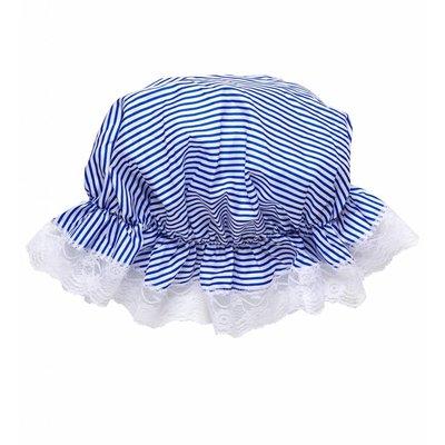 Slaapmuts Blauw/Wit Gestreept