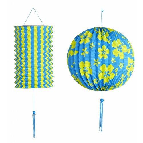 Decoratie Set Blauw/Geel