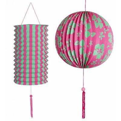 Decoratie Set roze/Groen