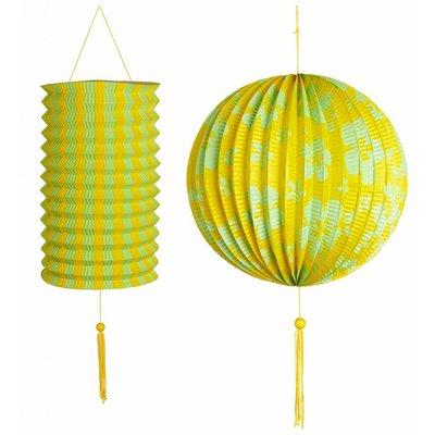 Decoratie Set Geel/Groen