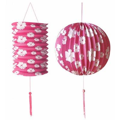 Decoratie Set roze/Wit