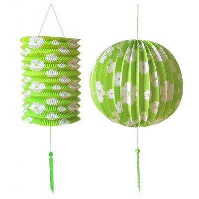 Decoratie Set Groen/Wit