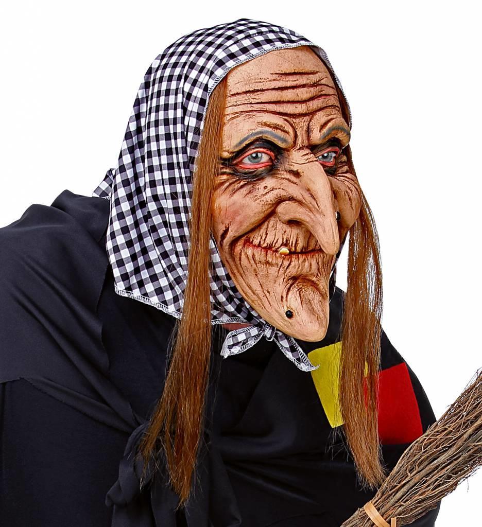 Masker Heks Met Haar En Hoofddoek