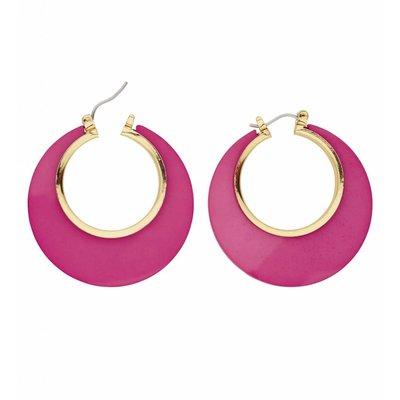 Oorbellen Disco roze/Goud