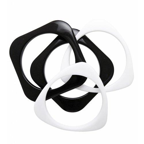Armband Disco Zwart/Wit
