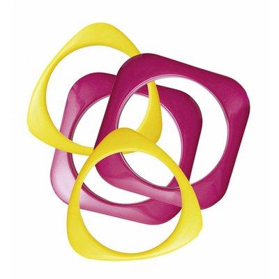 Armband Disco roze/Geel