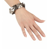 Armband Zilver/Zwart Met Nagels