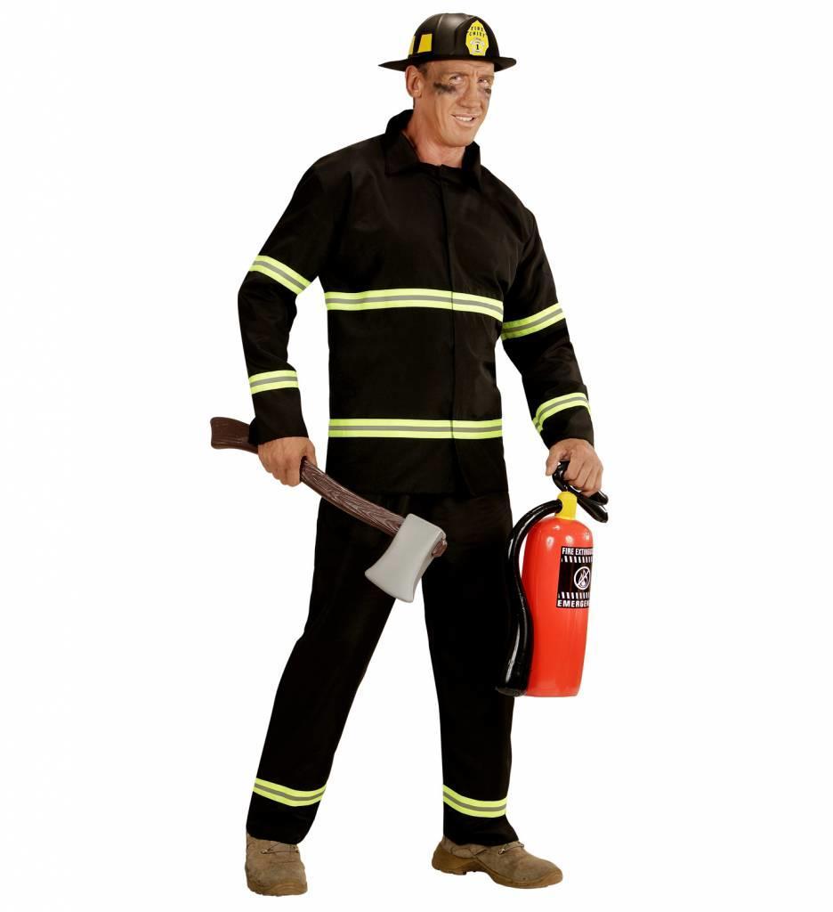 Brandweerman Zwart