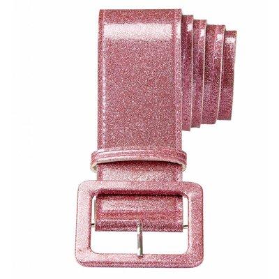 Riem Glitter 120Cm roze