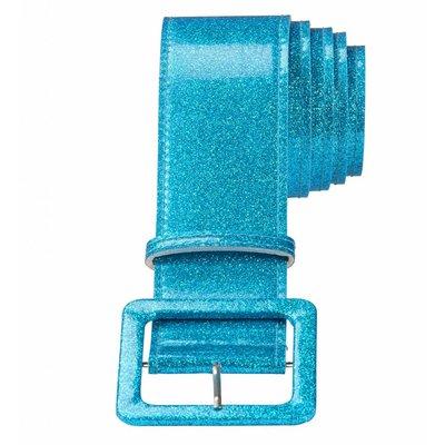 Riem Glitter 120Cm Blauw