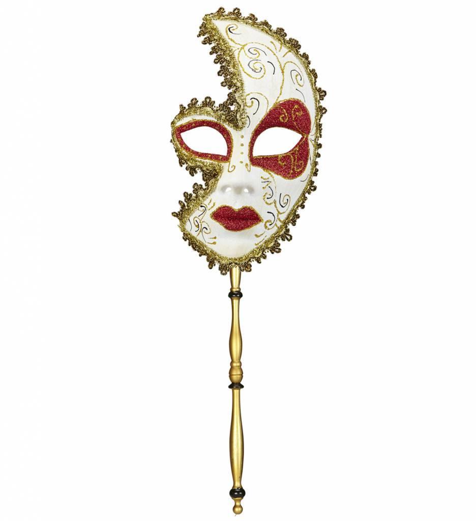 Luxe Masker Markies De Sade Met Een Stokje