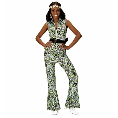 Groovy 70'S Dames Jumpsuit Golven