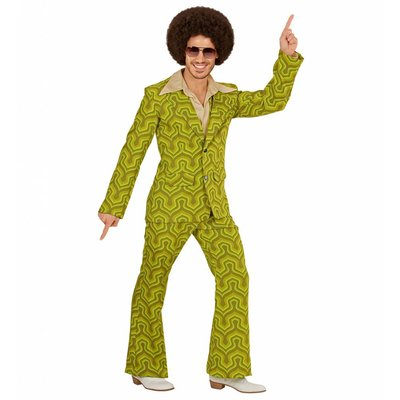 Groovy 70'S Heren Kostuum Behang