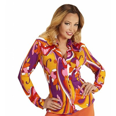Groovy 70'S Dames Shirt Orchidee