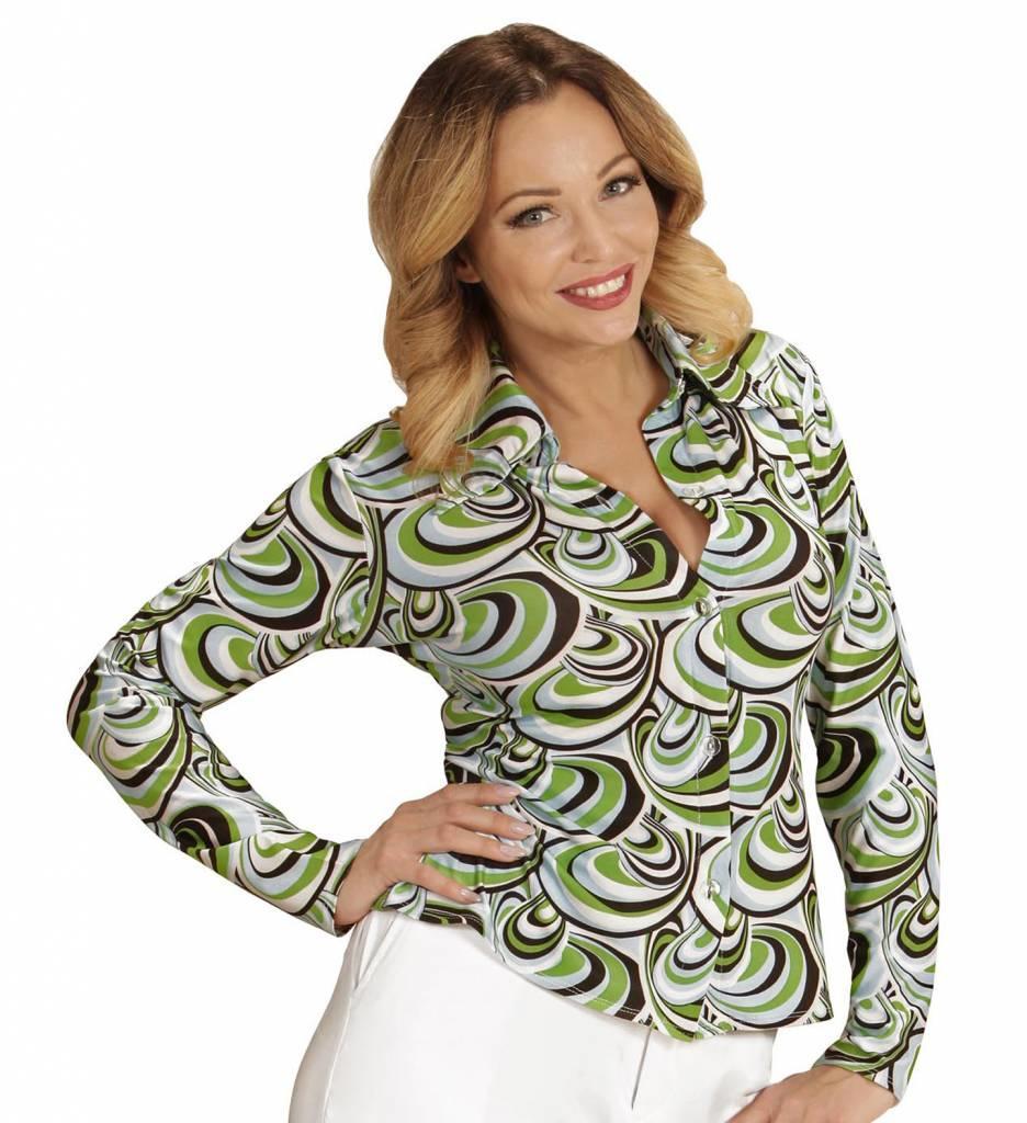 Groovy 70'S Dames Shirt Golven