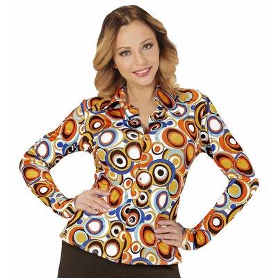 Groovy 70'S Dames Shirt Luchtbellen