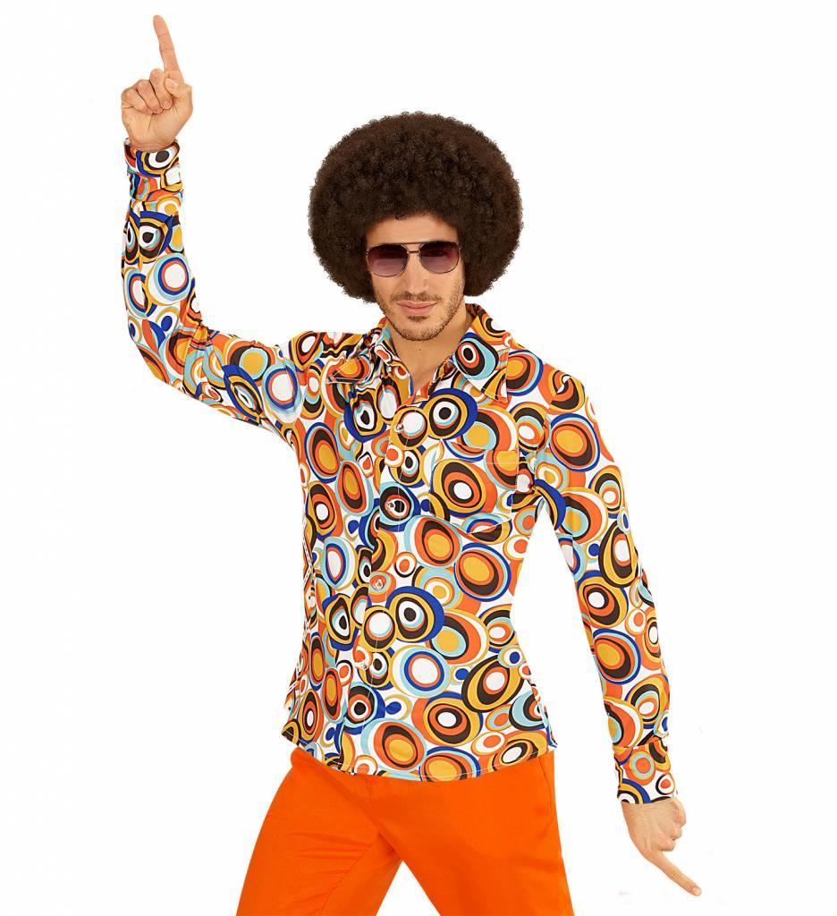 Groovy 70'S Heren Shirt Luchtbellen