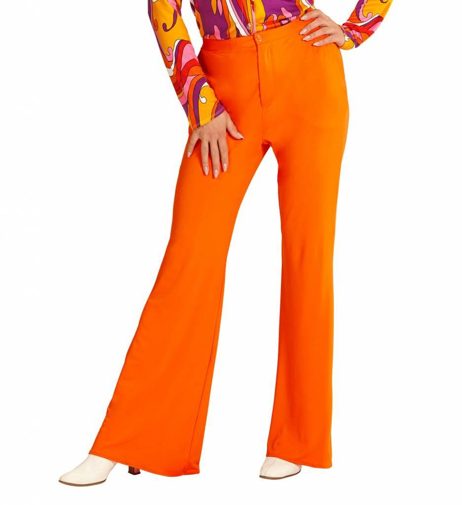 Groovy 70'S Dames Broek Oranje