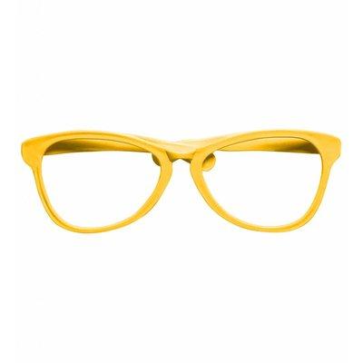 Grote Clownsbril Geel