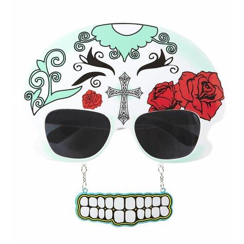 Bril Dia De Los Muertos Schedel