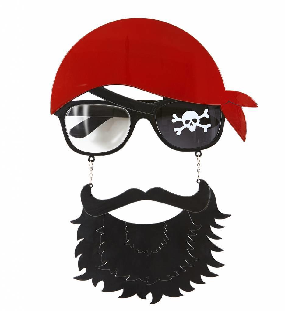 Bril Piraat Met Baard