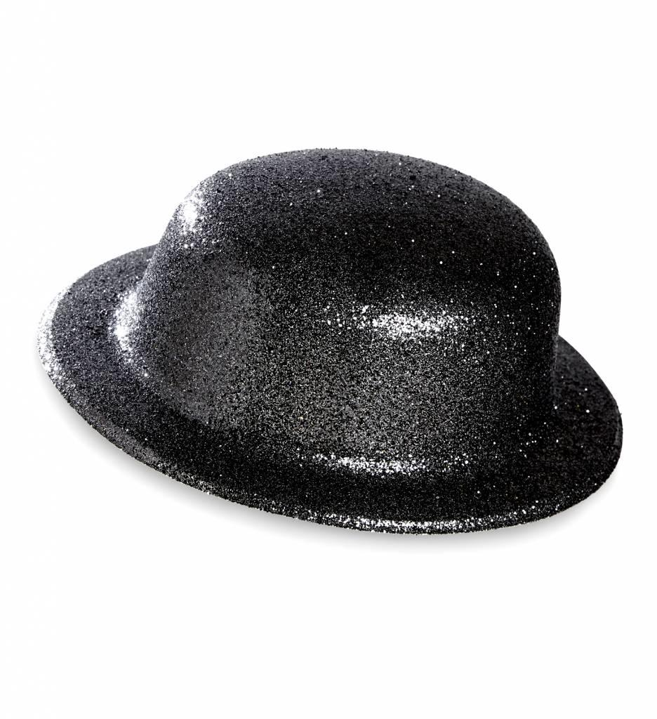 Glitter Bolhoed Zwart