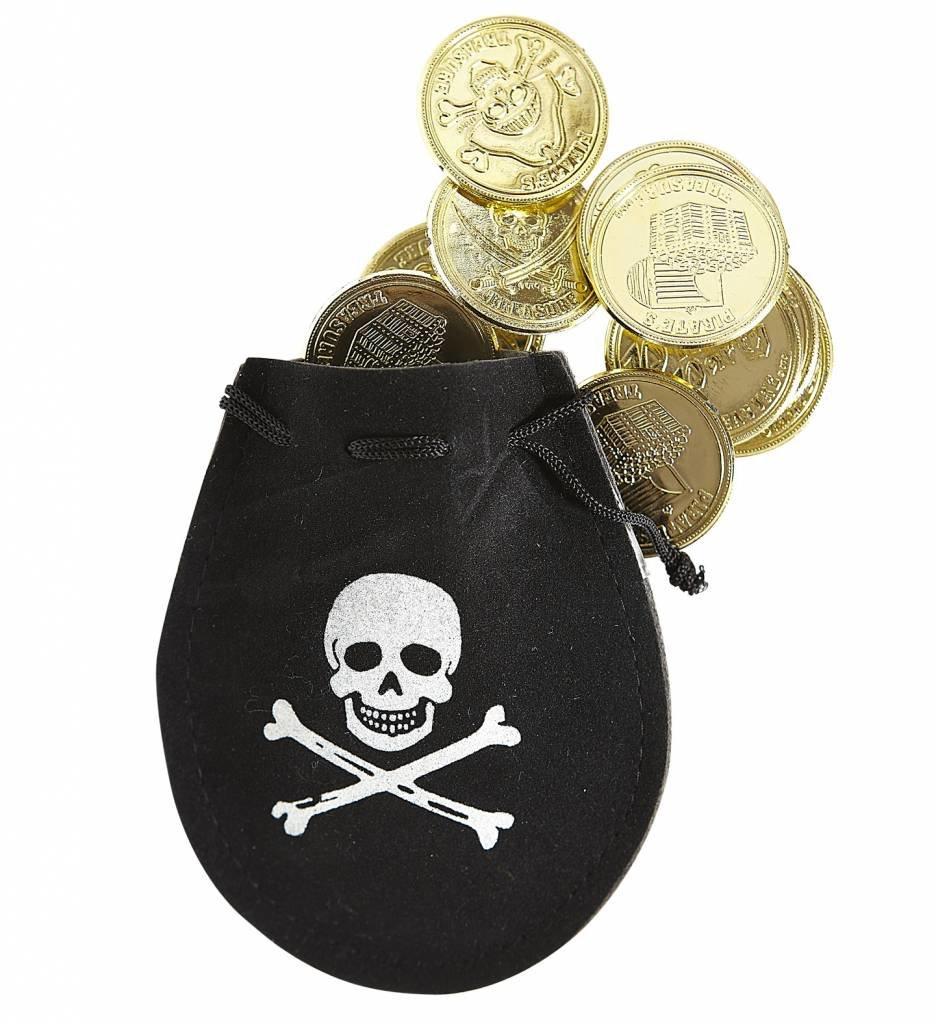 Piratentasje Met 12 Goudstukken